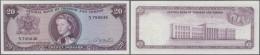 Trinidad & Tobago: 20 Dollars L.1964 P. 29b. This Banknote With Portrait Of Queen Elizabeth II In Center Is The High - Trinidad & Tobago