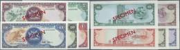 Trinidad & Tobago: Set Of 5 Different SPECIMEN Banknotes Containing 1, 5, 10, 20 And 100 Dollars ND P. 36s-40s, The - Trinidad & Tobago