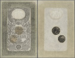 Turkey / Türkei: 20 Kurush 1851 P. 22, Rare Early Issue, Only Light Vertical And Horizontal Folds, No Holes Or Tear - Turkey