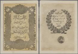 Turkey / Türkei: 20 Kurush 1861 P.36, Only 2 Corner Folds, Never Completly Folded, Crisp Original, Condition: XF+. - Turkey