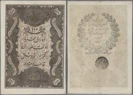Turkey / Türkei: 100 Kurush 1861 P. 41, Light Vertical And Horizontal Fold, Handling In Paper And A 4mm Tear At Low - Turkey