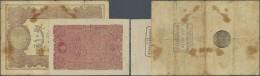 Turkey / Türkei: Set Of 2 Notes Containing 5 Kurush 1877 P. 47b, Vertical And Horizontal Folds, 8mm Tear At Lower B - Turkey