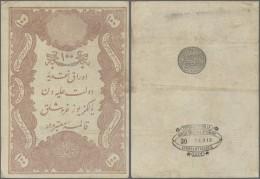 Turkey / Türkei: 100 Kurush 1877 P. 51b, 3 Horizontal Folds, No Holes Or Tears, Strongness In Paper, Condition: F. - Turkey