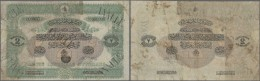 Turkey / Türkei: 2 Medjidies D'Or 1869 P. 57c, Highly Rare Issue, Used With Lots Of Staining In Paper, Stamped Annu - Turkey