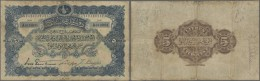 Turkey / Türkei: 5 Livres 1909 P. 64a, Used With 3 Strong Vertical And One Horizontal Fold, Stained Paper, Border W - Turkey