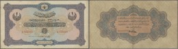 Turkey / Türkei: 1 Livre 1915 P. 69, 3 Vertical And One Horizontal Fold, Strong Paper Without Holes O2 Minor Border - Turkey