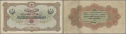 Turkey / Türkei: 1 Livre 1915 P. 73, 3 Vertical And 1 Horizontal Fold, Light Staining At One Fold On Back, No Holes - Turkey