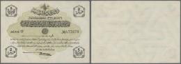 Turkey / Türkei: 5 Piastres 1916 P. 87, Creases In Paper In Corner Areas, Never Folded, Condition: VF+. - Turkey