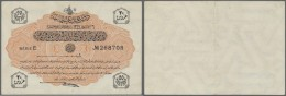 Turkey / Türkei: 20 Piastres 1916 P. 88, Center Fold And Handling In Paper, No Holes Or Tears, Crispness In Paper, - Turkey