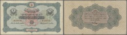 Turkey / Türkei: 1 Livre 1916 P. 90, Stonger Center And Horizontal Fold, Creases, No Holes Or Tears, Condition: F. - Turkey