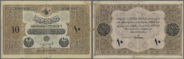 Turkey / Türkei: 10 Livres 1916 P. 92, Used With Several Folds And Creases, No Tears, A Small Piece Of Tape At Righ - Turkey