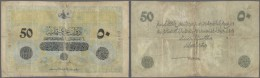 Turkey / Türkei: 50 Livres 1916 P. 93, Very Strong Used, Very Strong Center Fold Which Nearly Causes A Complete Tea - Turkey