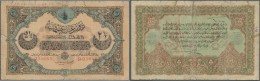 Turkey / Türkei: 2 1/2 Livres 1913 P. 100, Used With Strong Center Fold, A Larger Tear Along The Center Fold Fixed - Turkey