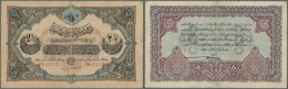 Turkey / Türkei: 2 1/2 Livres 1913 P. 100, Used With Strong Center Fold, Fixed With Tape On Back At Lower Border, S - Turkey