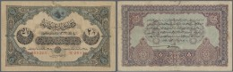 Turkey / Türkei: 2 1/2 Livres 1917 P. 100, Foldede Several Times, Some Border Tears Which Are Fixed With Glue, Stil - Turkey