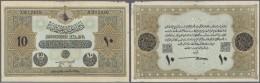 Turkey / Türkei: 10 Livres 1918 P. 110b, Never Folded But Unfortunately Worn Upper Border, Small Paper Irritation A - Turkey
