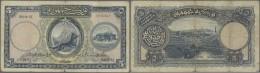 Turkey / Türkei: 5 Livres ND(1927) P. 120a, 3 Strong Vertical Folds, No Holes, No Repairs, Still Original Colors, C - Turkey
