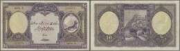 Turkey / Türkei: 10 Livres ND(1927) P. 121a, Slight Folds, Pressed, A 2mm Tear At Upper Border, Paper Still Strong - Turkey