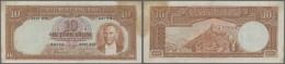 Turkey / Türkei: 10 Lira ND(1938) P. 128, Only Slight Folds And Very Strong Paper, Staining At Upper Right Corner, - Turkey