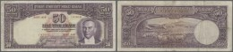 Turkey / Türkei: 50 Lira ND(1938) P. 129, Rare Issue, Used With Folds And Normal Traces Of Circulation, No Holes Or - Turkey