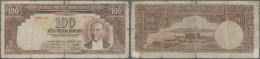 Turkey / Türkei: 100 Lira ND(1938) P. 130, Very Strong Used With A Very Strong Center Fold Causing A 1,5 Cm Tear At - Turkey