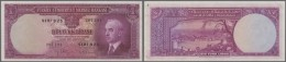 Turkey / Türkei: 1 Lira ND(1942) P. 135, One Light Vertical Fold, One Corner Fold At Lower Left Corner, 8 Pinholes - Turkey