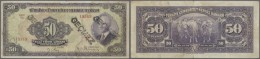 Turkey / Türkei: 50 Lira ND(1942) P. 142a, 3 Stronger Vertical Folds, Stamped 3 Times On Front, No Holes Or Tears, - Turkey