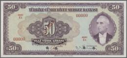 Turkey / Türkei: 50 Lura ND SPECIMEN P. 142As, In Condition: UNC. - Turkey