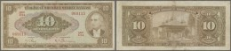 Turkey / Türkei: 10 Lira ND(1948) P. 148a, Normal Traces Of Use, Folds, No Holes Or Tears, Strongness In Paper, Con - Turkey