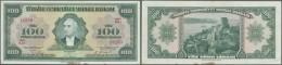 Turkey / Türkei: 100 Lira ND(1947) P. 149, Center Fold, Light Handling In Paper And A Stain At Lower Border Center, - Turkey