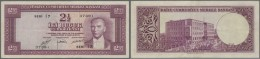 Turkey / Türkei: 2 1/2 Lira ND(1952) P. 150a, Centerfold, Light Handing In Paper, No Holes Or Tears, Condition: VF - Turkey