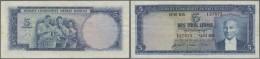 Turkey / Türkei: 5 Lira ND(1952) P. 154a, Folded Paper Without Holes Or Tears, Light Stain Trace On Back At Left Bo - Turkey