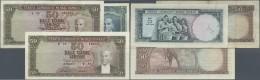 Turkey / Türkei: Set Of 3 Notes Containing 5 Lira ND(1965) P. 174a (F+), 50 Lira ND(1964) P. 175a (F) And 50 Lira N - Turkey