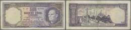 Turkey / Türkei: 500 Lira ND(1968) P. 183, Vertical Folds, Corner Folds, No Holes Or Tears, Paper Still Strong, Con - Turkey