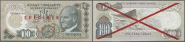 Turkey / Türkei: 100 Lira ND(1972) Specimen P. 189s With Zero Serial Numbers And Red Specimen Overprint, Handwritte - Turkey