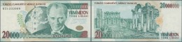 Turkey / Türkei: 20.000.000 Lira 2001 P. 215 In Condition: UNC. - Turkey