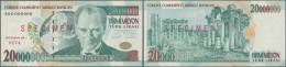 Turkey / Türkei: 20.000.000 Lira ND(1984-2002) Specimen P. 215s In Condition: UNC. - Turkey