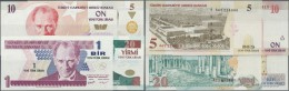 Turkey / Türkei: Set Of 4 Notes Containing 1, 5, 10 And 20 Lira 2005 P. 216-219, All In Condition: UNC. (4 Pcs) - Turkey
