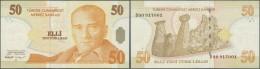 Turkey / Türkei: 50 Lira 2005 P. 220 In Condition: VF. - Turkey