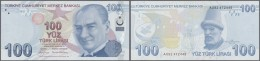 Turkey / Türkei: 100 Lira 2009 P. 226 In Crisp Original Condition: UNC. - Turkey