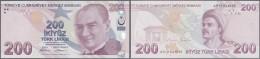 Turkey / Türkei: 200 Lira 2009 P. 227 In Crisp Original Condition: UNC. - Turkey