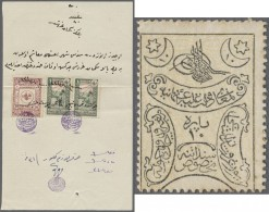 Turkey / Türkei: Set Of 4 Stamp Money Notes Containing 1x 10 Para And 2x 1 Para (without The 10 Para Overprint List - Turkey