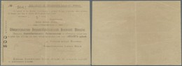 Turkmenistan: The Draft Of The British Military Mission In Ashkhabad 500 Rubles 1918, P.S1148a, , Vertical Fold At Cente - Turkmenistan