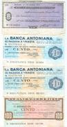 91 - N. 4 MINIASSEGNI - Monete & Banconote