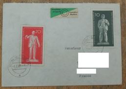 DDR 1960 N° YT 488 489 / Monuments Lénine à Eisleben  Et Thälmann à Weimar / Vignette Sorgfältig Stempeln Sammler Marken