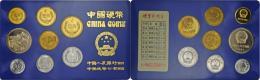 China - Volksrepublik: Kursmünzensatz 1985 PP , KM-Ps16, Mit KM 1-3, 15-18 Sowie Medaille Anlässlich Des Jahre - China