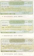 92 - N. 3 MINIASSEGNI - BANCA CATTOLICA DEL VENETO - Monete & Banconote