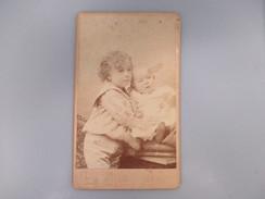 CDV ENFANT BEBE   PHOTOGRAPHE PIROU 75 PARIS - Cartes De Visite