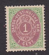 Danish West Indies, Scott #5c, Mint No Gum, Number, Issued 1874 - Denmark (West Indies)