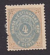 Danish West Indies, Scott #7, Mint Hinged, Number, Issued 1874 - Danemark (Antilles)